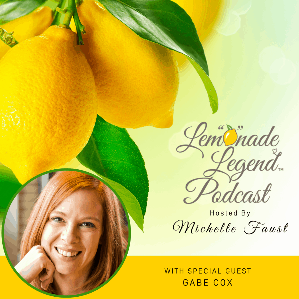 Cover photo of the Lemonade Legend Podcast episode with Gabe Cox - picture of lemons